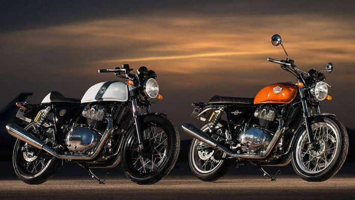 2018 royal enfield 650cc interceptor and continental gt 650