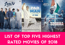 List of Top Five High Rated Movies Of 2018