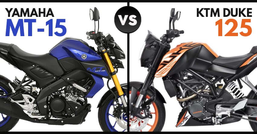 2019 Yaamaha MT-15 vs KTM 125 Duke
