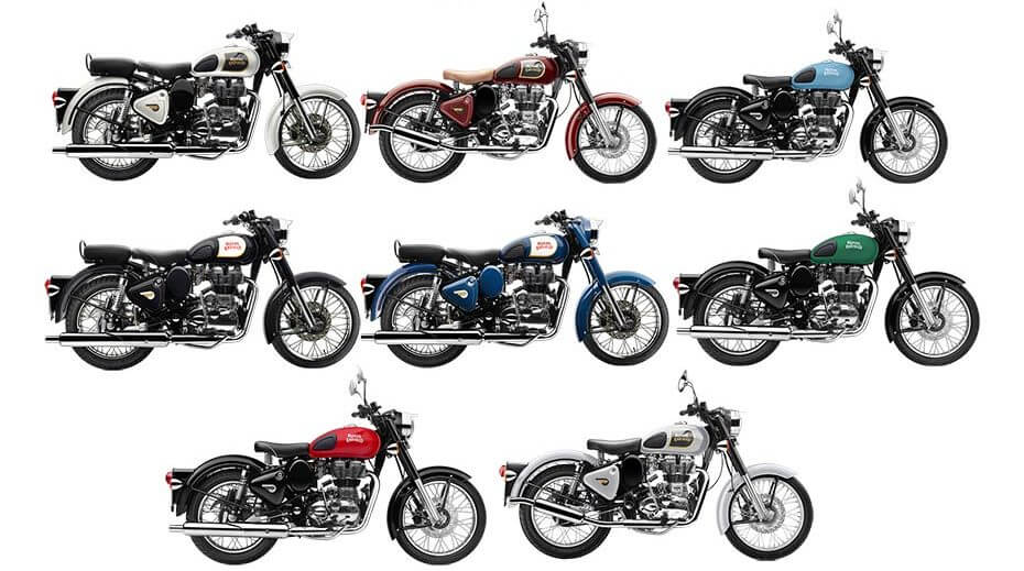 Royal Enfield Classic 350 Colors