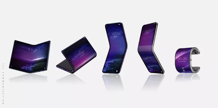TCL Foldable Phone bends into Smartwatch