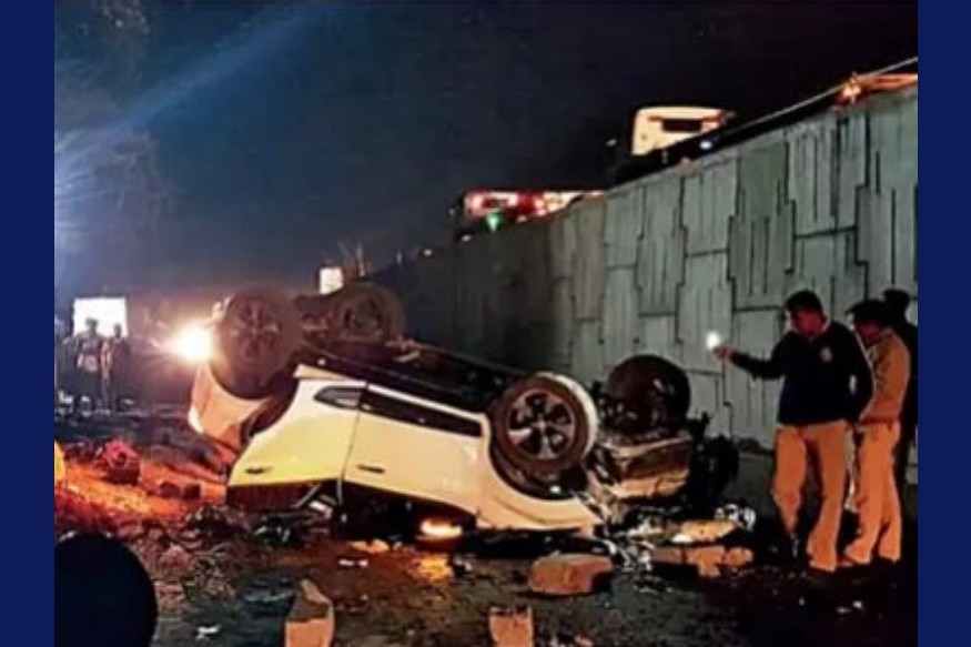 Tata Nexon Proves its Safety Standards, All Passengers Safe Despite SUV Falling from Flyover