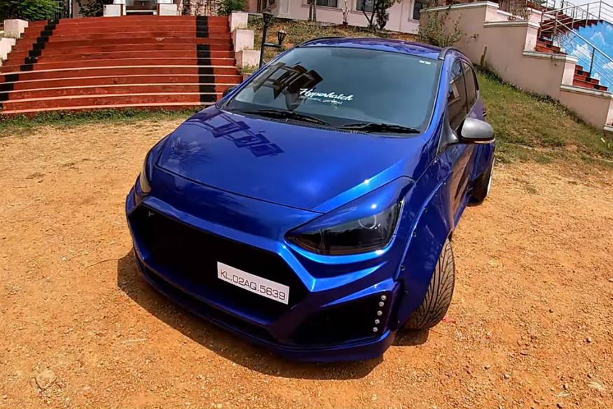 This Mean-Looking Hatchback Is Actually a Modified Hyundai Grand i10 With Hyper-Wide Body Kit