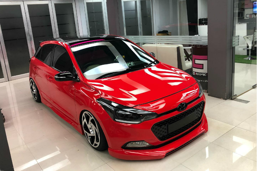 This Modified Hyundai Elite i20 Lowrider Leaves No Room For Speed Bumps or Haters
