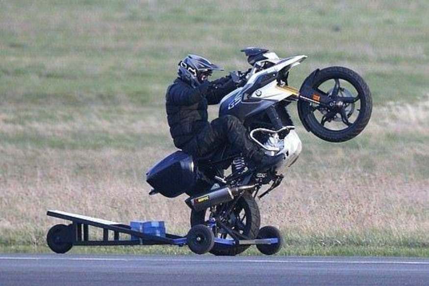 Tom Cruise's Behind the Scenes Photo of Pulling Wheelies on BMW G 310 GS Breaks the Internet