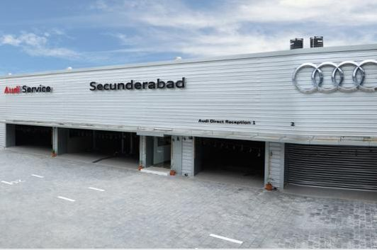 Audi India's new state-of-the-art service facility in Secunderabad. (Image: Audi India)