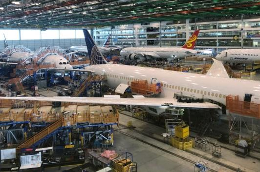 Boeing 787 Dreamliners are shown in final production at widebody factory in North Charleston, South Carolina, USA.  (Image: Reuters/Eric Johnson)