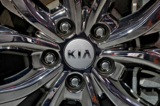 The logo of Kia Motors is seen on a wheel of its Carnival car at the India Auto Expo 2020 in Greater Noida, India, February 5, 2020. (Photo: Reuters)