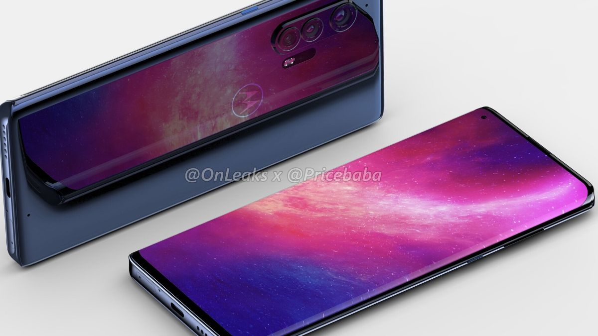 Motorola Edge+ Alleged Renders Show Curved Waterfall Display With Hole-Punch Design