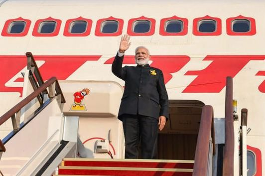 File photo of Prime Minister Narendra Modi boarding an Air India aircraft. (PTI)