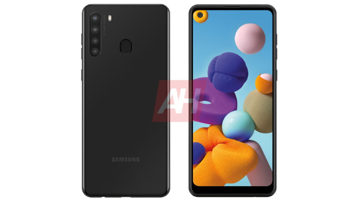 Samsung Galaxy A21 Alleged Render Tips Quad Rear Cameras, Hole-Punch Display