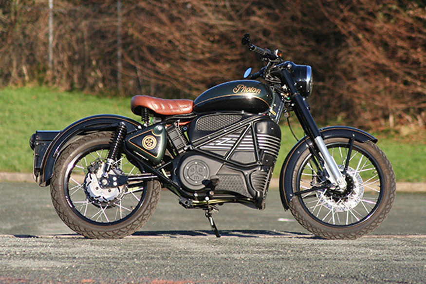 This Royal Enfield Bullet Converted into Electric Motorcycle Called 'Photon' is Both Iconic and Green