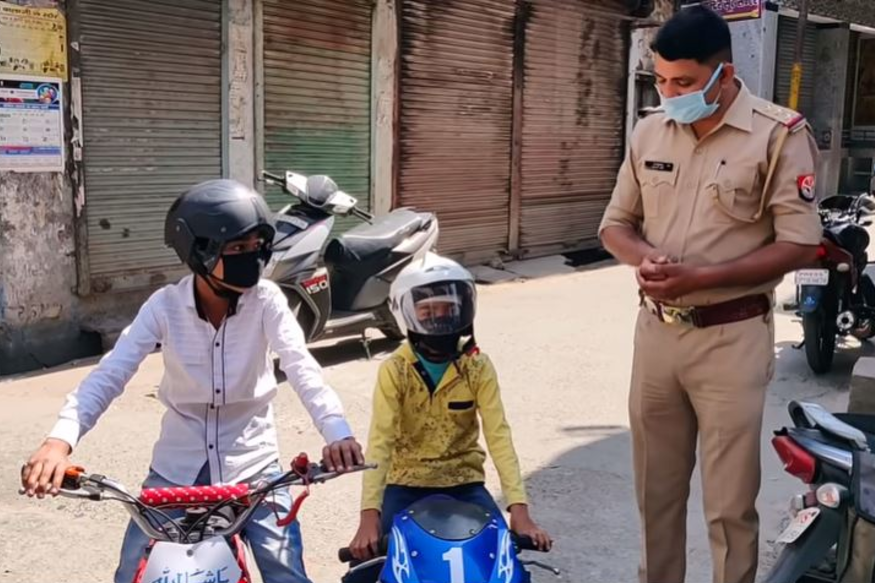 Two Children on Pocket Bikes Breach Lockdown to Donate Rs 5,000