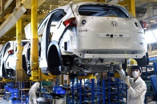 File photo of a Honda plant in Wuhan, China.
