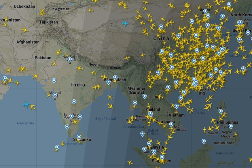 India vs China Live Air Traffic Comparison Shows the Massive Impact of COVID-19 on Aviation Industry