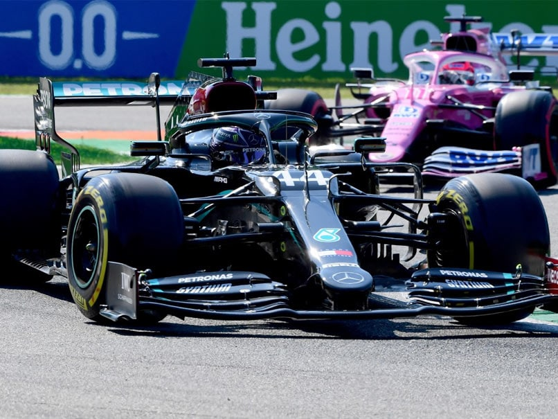 Lewis Hamilton broke the track record twice during qualifying at Monza, setting F1's fastest laptime